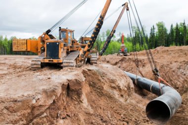 industry gas oil pipeline construction site